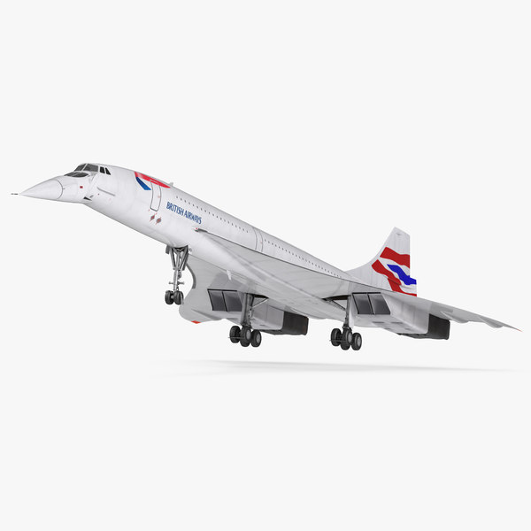 3d model concorde supersonic passenger jet