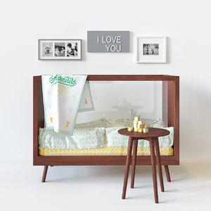 acrylic crib 3d model