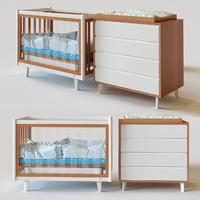 crib vintage 3d model