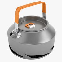 camping teapot 3d model