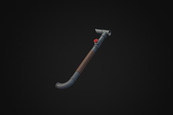 iron pipe 3d model