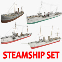 steamships ship 3d obj