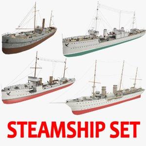 steamships ship 3d obj