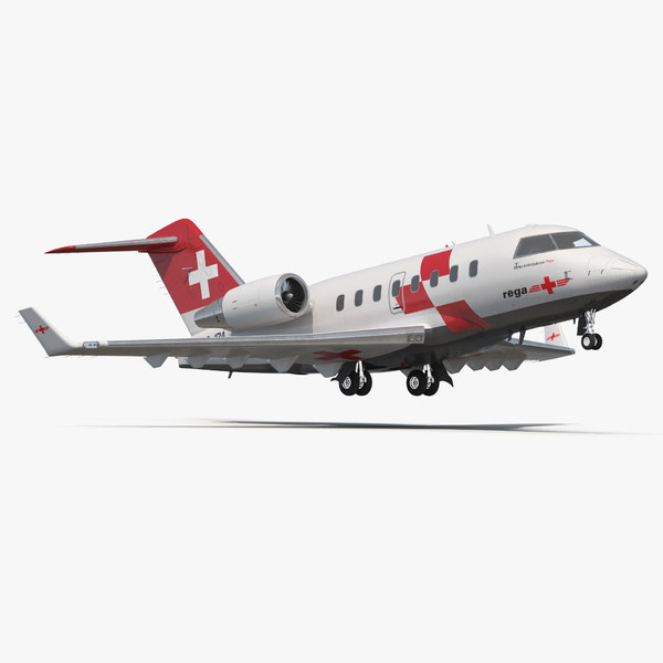 3d swiss air ambulance jet