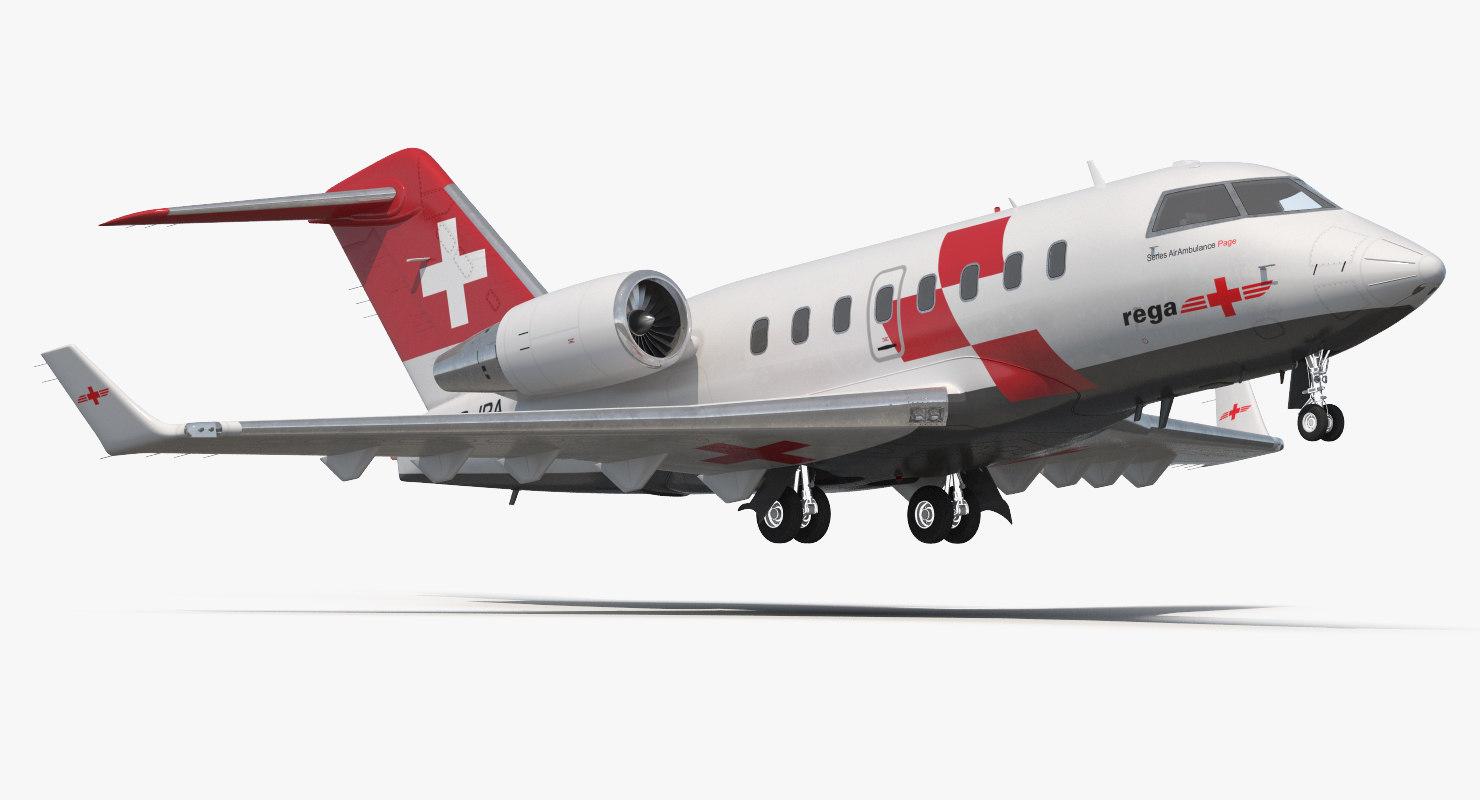 3d swiss air ambulance jet