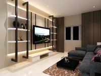 living hall 3d model