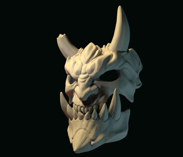 fbx demon mask