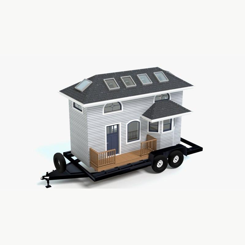 tiny house trailer 3d model