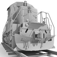 superiority train wagon 3d obj