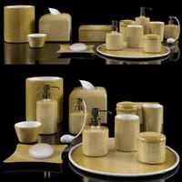 bathroom accessories 3d model