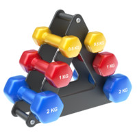dumbbells stack 3d obj