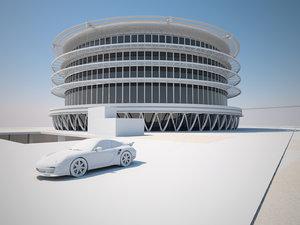 futuristic buildings pack 3d model