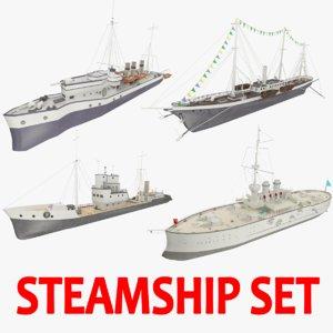 steamships ship 3d model
