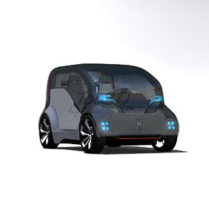 3d concept car neuv model