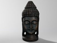 c4d teak wood carving budda