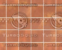 Terracotta Ceramic Tiles Texture with Bump map