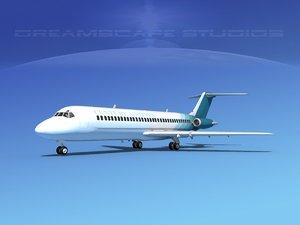3d dc-9-30 dc-9 airliner model