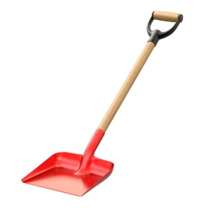 3d model red snow shovel