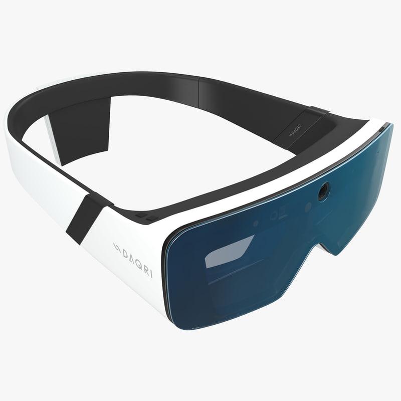 daqri - smart glasses 3d max