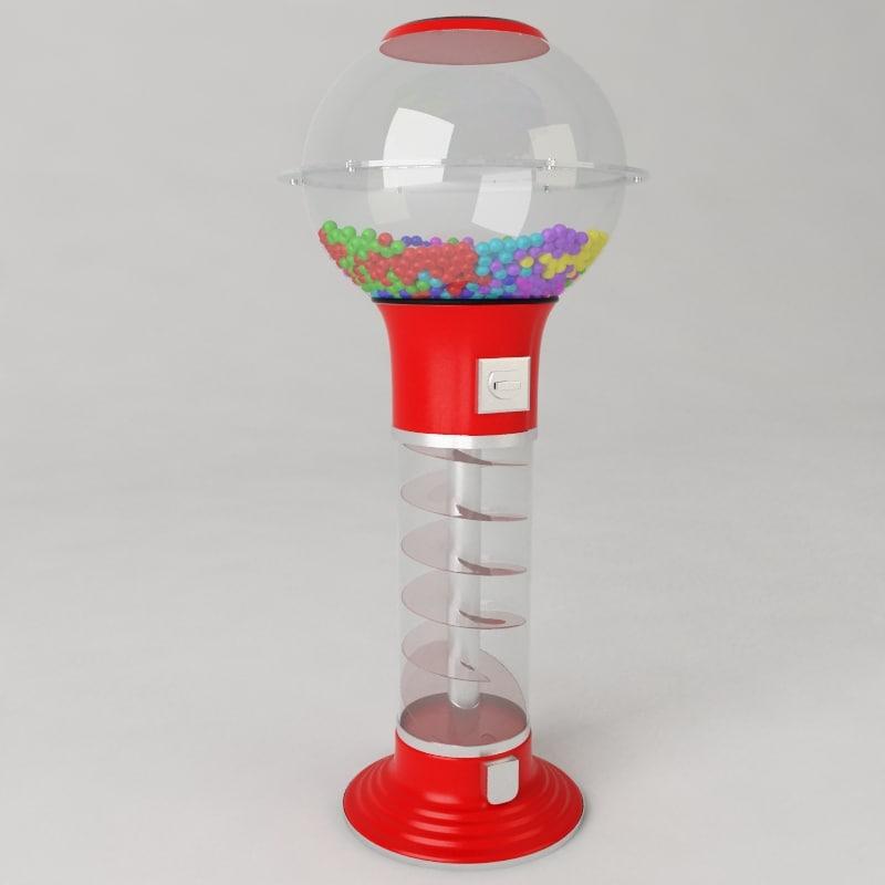 3d gumball machine