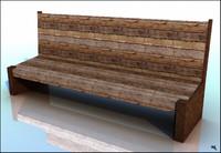 bench wood old obj free
