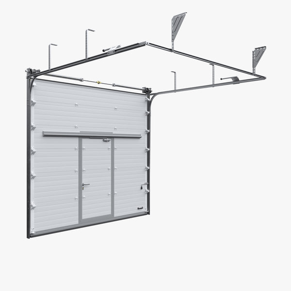 3d model industrial sectional garage door