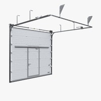 Industrial sectional garage door / gate