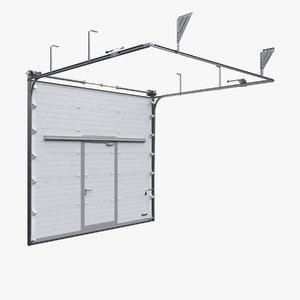 3d model industrial sectional garage door