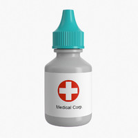 medical bottle 3d model