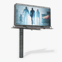 free billboard games 3d model