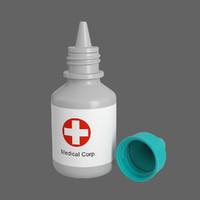 3d medical bottle