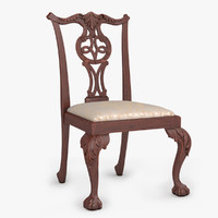 Chippendale Dining Chair 01