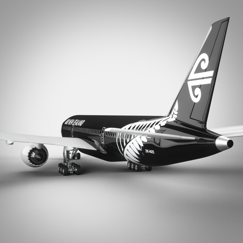 air new zealand boeing 3d max