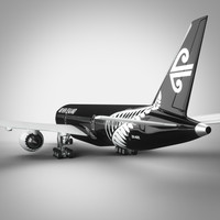 3d obj air new zealand boeing