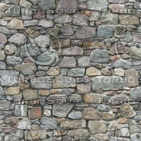 Stone Wall Texture With Bump Map