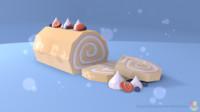 3d sweet roll model