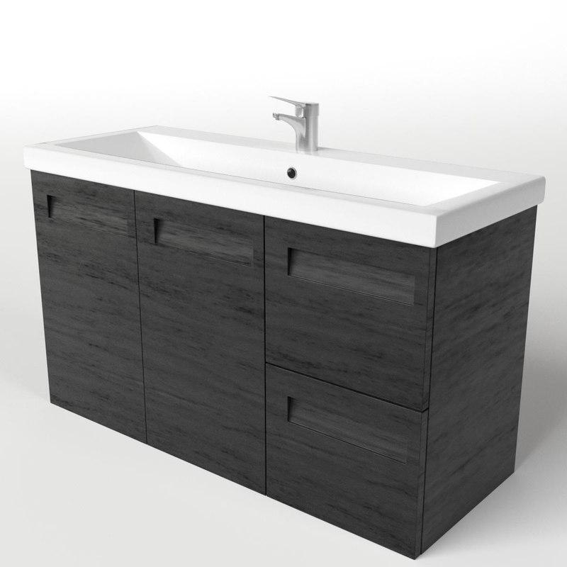 3d bathroom wash basin sink model