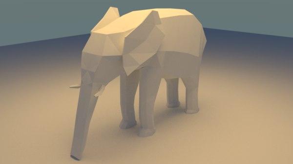 elephant blender 3d model