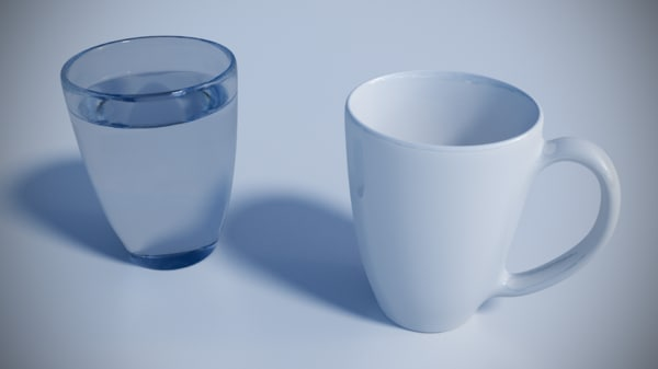 mug glass 3d 3ds