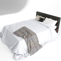 bed blanket pillows 3d max