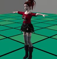 x anime styled club girl
