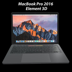 - element macbook pro 3d model