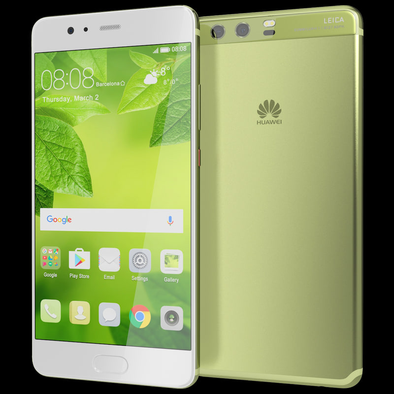 realistic huawei p10 greenery 3d model