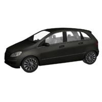 3d model black car