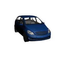 3d blue car model