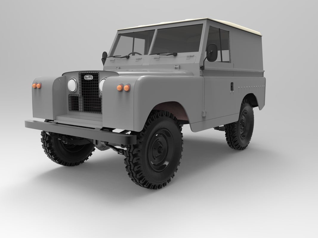 3d model land rover series 2
