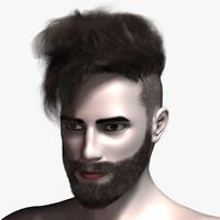 virtual hair 14 3d model
