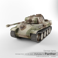 sd v panther german tank 3d model