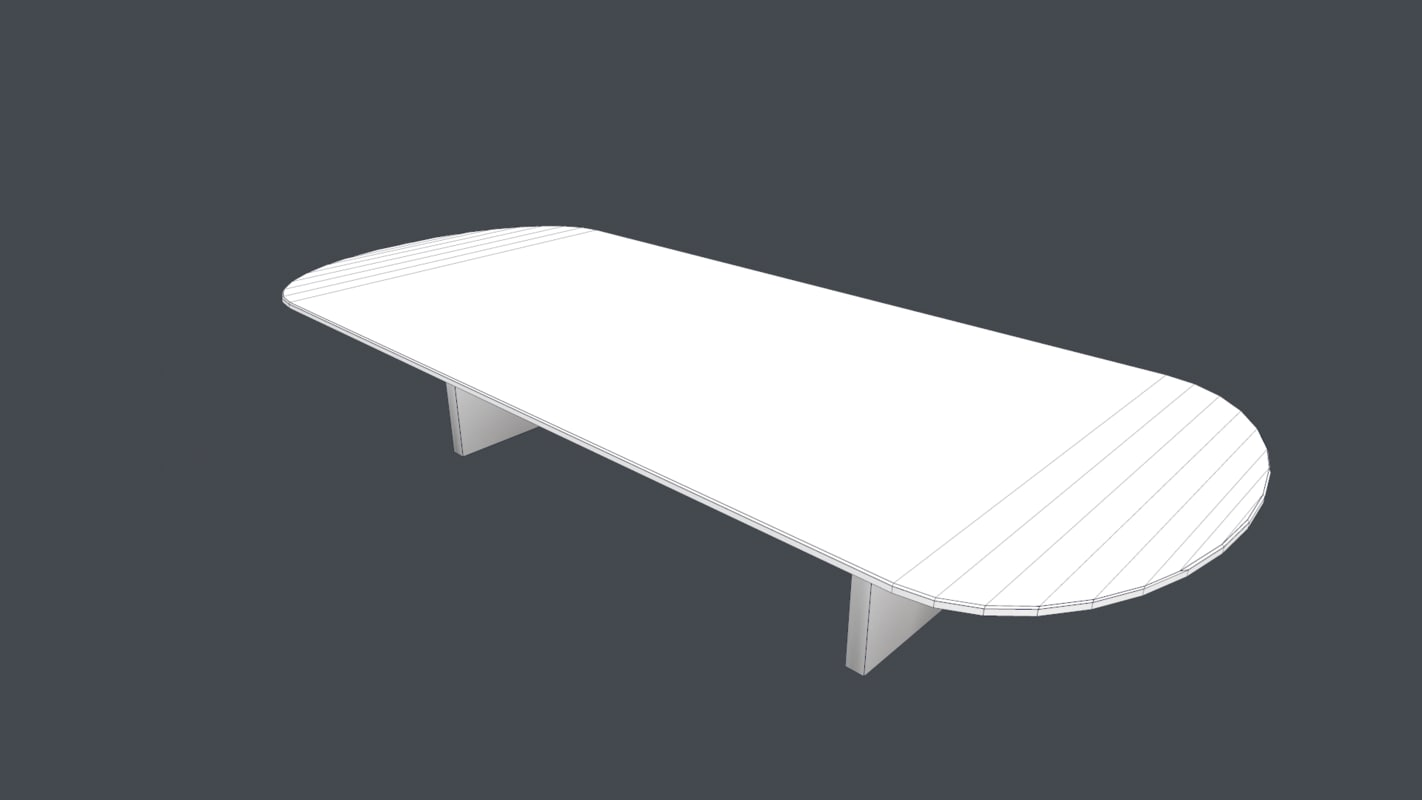 free obj model office meeting table