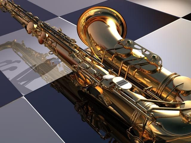 saxphone music 3d max